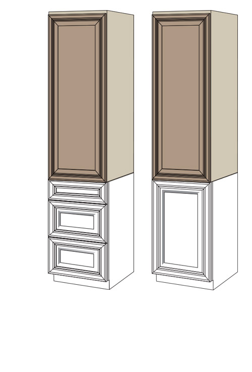 Linen Cabinets Products Villa Bath Cabinets By Rsi