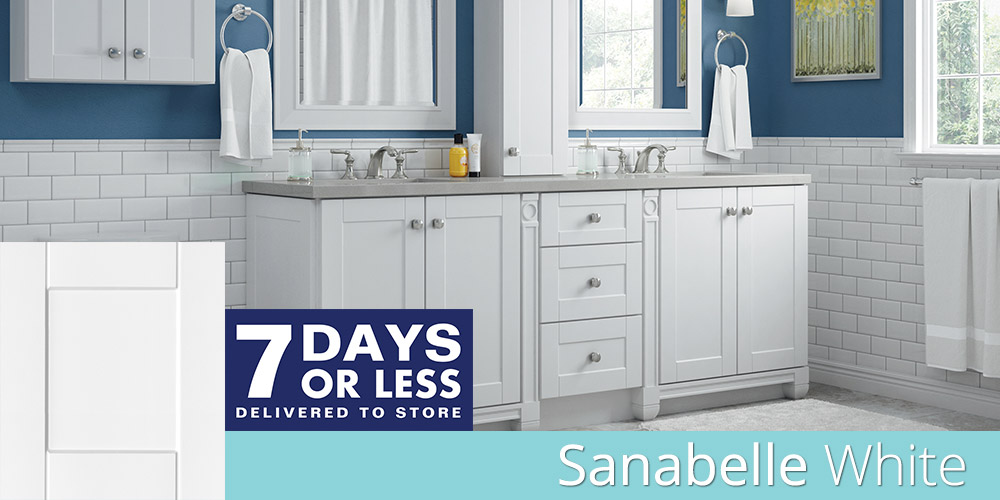 Sanabelle White bathroom cabinets